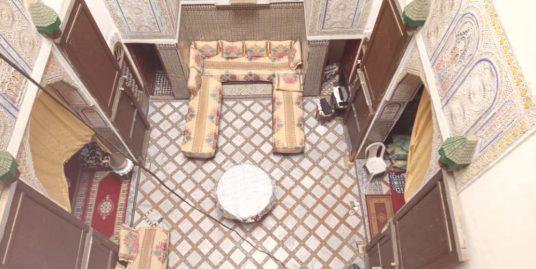 Maison traditionnelle avec très belle fontaine